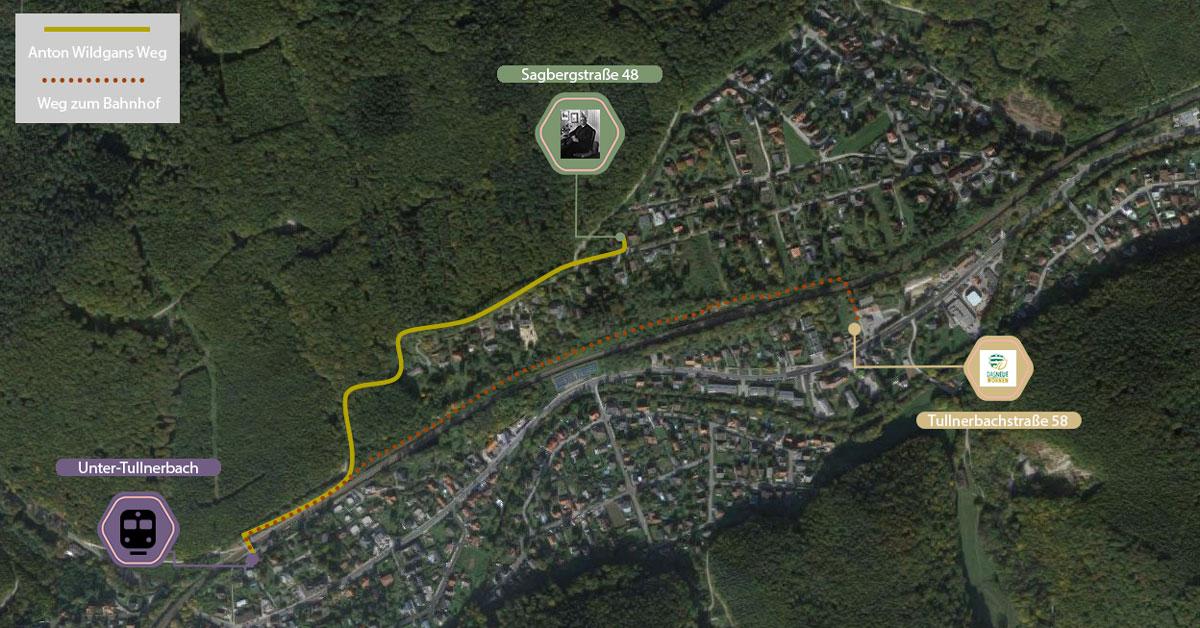 Stadtplan Anton Wildgans