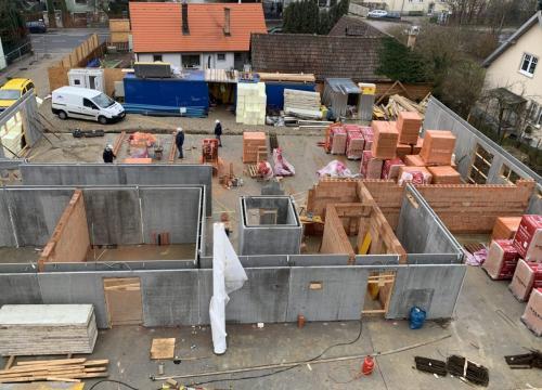 Baufortschritt Purkersdorf 21.01.2020
